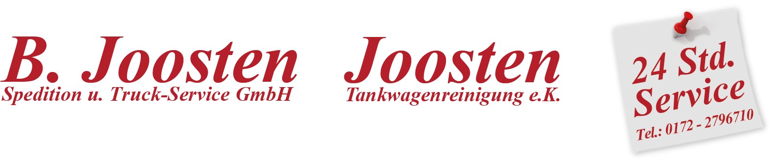 B. Joosten / Joosten Tankwagenreinigung